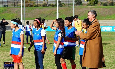 AMES گزارش تصویری ازبرگزاری مسابقات فوتبال استرالیایی بین دانش آموزان