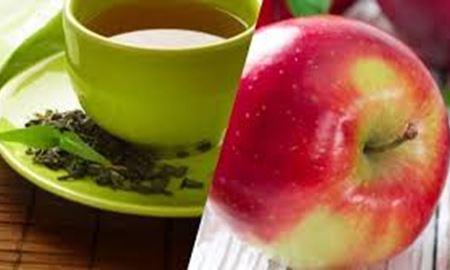 چای سبز را با سیب بخورید