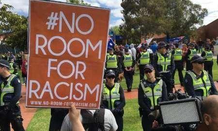 درگیری فعالان ضد نژادپرستی استرالیا با گروه های اسلام ستیز درنزدیکی ملبورن