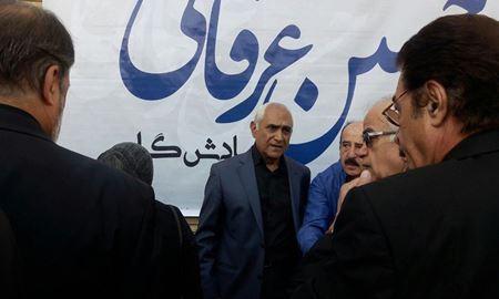گزارش تصویری از مراسم خاکسپاری «حسین عرفانی» دوبلور پیشکسوت عرصه تلویزیون و سینما ایران