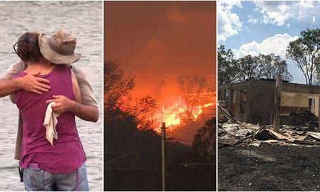 درحالیکه سیدنی در سیلاب غوطه ور شده در کوئینزلند بدلیل آتش سوزی هزاران تن مجبور به تخلیه خانه های خود شدند