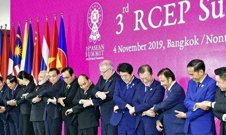 رهبران ۱۶ کشور در  بزرگترین پیمان تجاری جهان