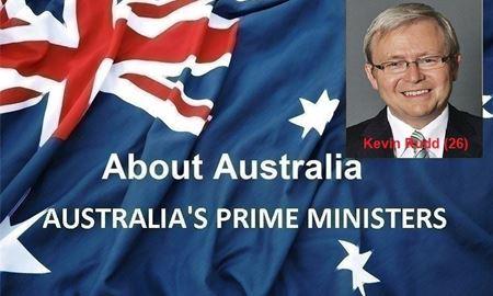 نخست وزیران استرالیا ، از ابتدا تا کنون - بیست و ششمین (26) نخست وزیر استرالیا - کوین راد(Kevin Rudd)