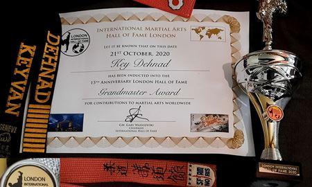 بنیانگذار جوجیتسو ایران در تالار مشاهیر رزمی جهان لندن ۲۰۲۰