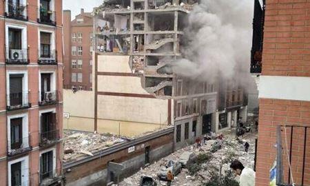 نشت گاز و انفجار یک ساختمان شش طبقه در مادرید