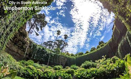 گردشگری استرالیا/ آمفرستن سینک هول(Umpherston Sinkhole)در مرز بین ایالت ویکتوریا و استرالیای جنوبی