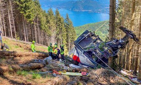 سقوط تلهکابین در شمال ایتالیا