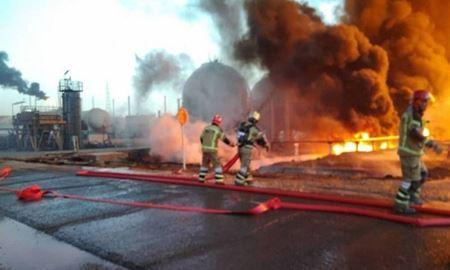 آتشسوزی در پالایشگاه تهران مصدوم نداشته است
