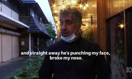 درگیری مصطفی جمالی مدیر رستوران بدلیل عدم توجه مشتری به قوانین کرونا در نیوساوت ولز استرالیا
